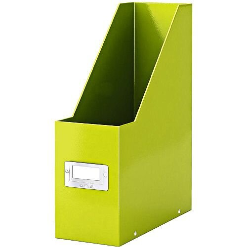 Leitz Click &Store Magazine File Green (Dimensions: W103 x D253 x H330mm; 103mm spine whitch is laminiated for lasting use; Back and front label holder for easy indexing) 60470064