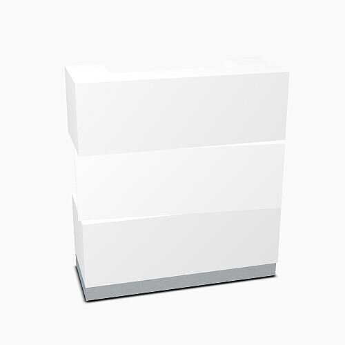 Zen Modern Design Small Reception Desk White Pastel W1135mm