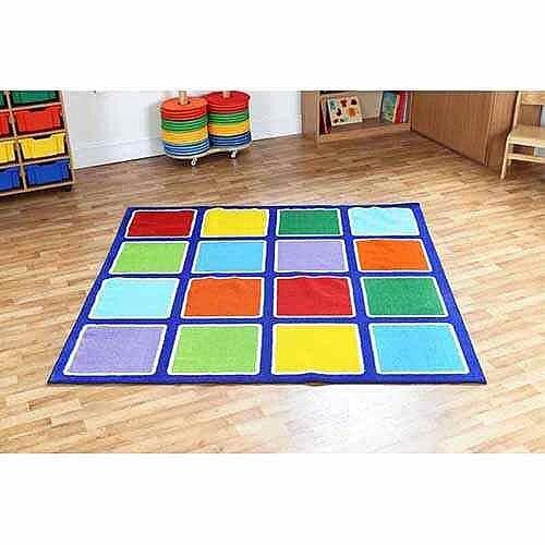 Rainbow Square Placement Carpet