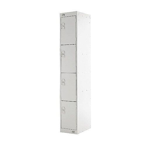 Four Compartment Locker Light Grey Door 300mm Deep MC00020