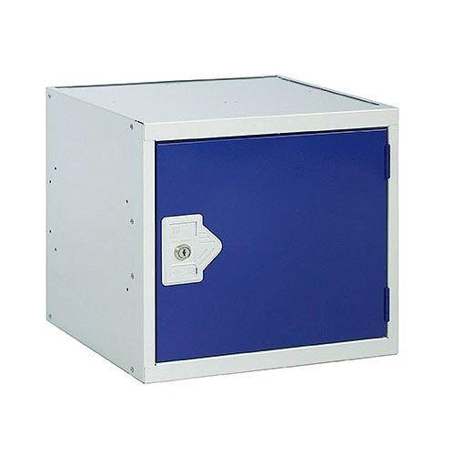 One Compartment Cube Locker Grey Body &Blue Door 300x300x300mm MC00085