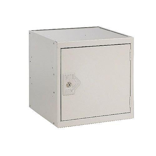 One Compartment Cube Locker Light Grey Body &Door 300x300x300mm MC00086