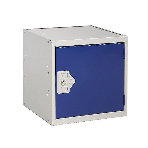 One Compartment Cube Locker Light Grey Body &Blue Door 380x380x380mm MC00091