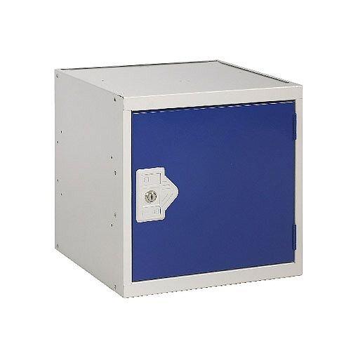 One Compartment Cube Locker Light Grey Body &Blue Door 450x450x450mm MC00097