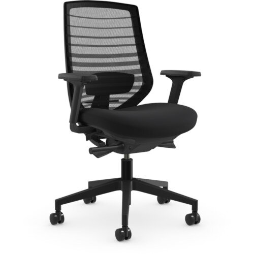 X.77 Office Operator Chair with Mesh Back And Adjustable Lumbar Support Black