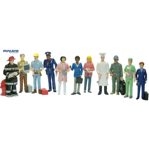 Professionals Block Figures Small World 12 Pieces Ref MD27388