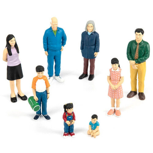 Family Block Figures Small World - European Family Ref:MD27395