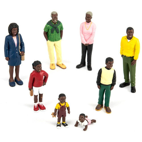 Family Block Figures Small World - African Family Ref:MD27396