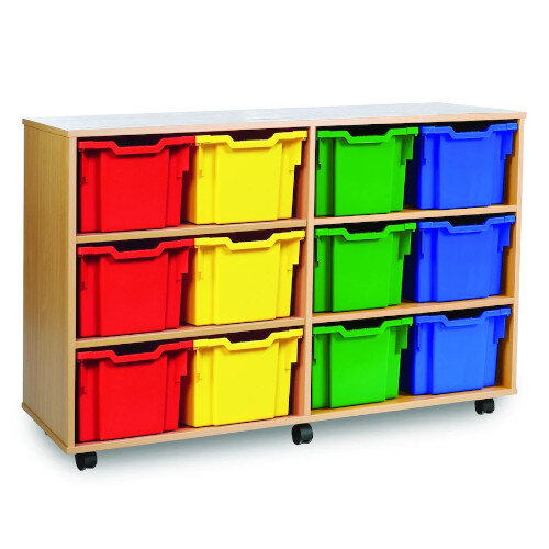 Tray Storage Unit With 12 Jumbo Trays Brights H857mm