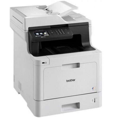 Brother DCP-L8410CDW Colour Multifunction Laser Printer/Copier/Scanner - High speed printing 31 pages per minute.  9.3cm touchscreen.  Includes 3,000 page black and 1,800 page colour toner.