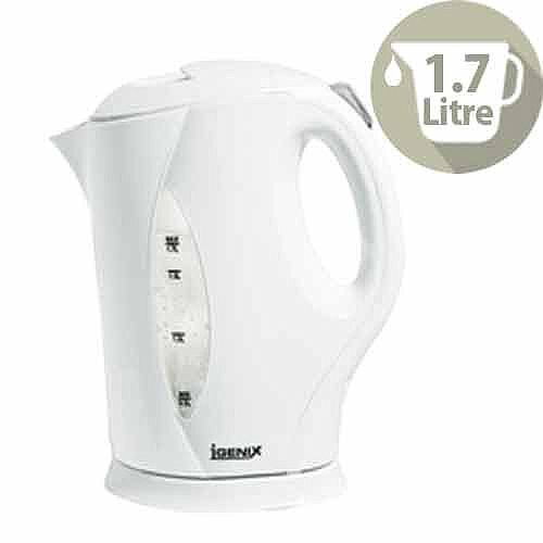 Igenix Electric Kettle Cordless Jug Capacity 1.7 Litre Whitle IG7270
