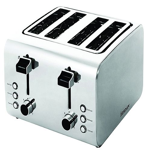 Igenix 4 Slices Toaster Stainless Steel FCL4001/H