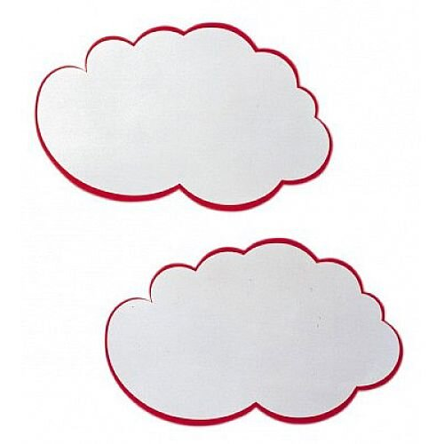 Franken Training Cards Cloud 230x150mm White with Red Edge Pack of 20 MKS51