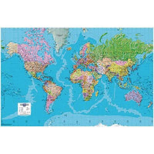 Map Giant World Political Framed Map on