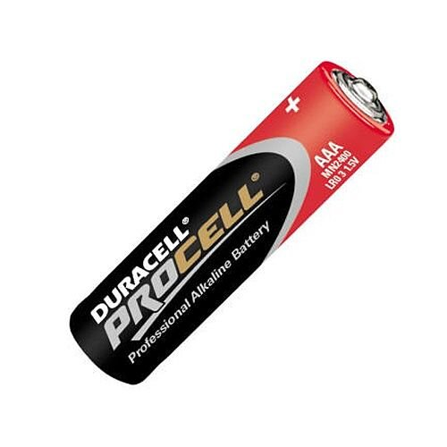 AAA 1.5v Duracell Procell Batteries Box of 10