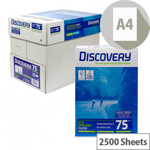Discovery Everyday A4 75gsm White Printer Paper Box of 2500 Sheets DIS0750073