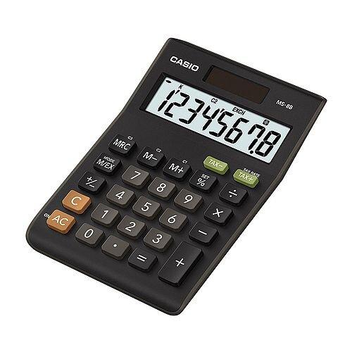 CS 8-digit Tax/Currency Calculator Black