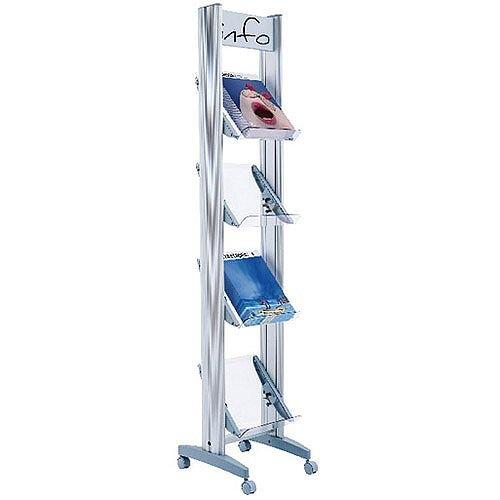 Fast Paper Corner A4 Plexiglass 4 Shelf Display F2432TT35