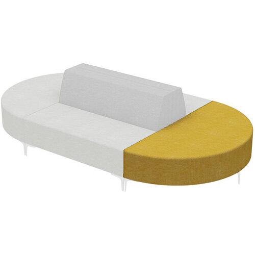 Frovi HUDDLE MODULAR Semi-Circular Island Unit With Chrome Feet H440xW1520xD760mm 440mm Seat Height - Fabric Band F