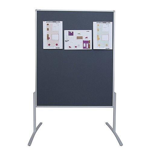 Franken PRO Training Board Grey Felt Double Sided 1200x1500mm MT800312