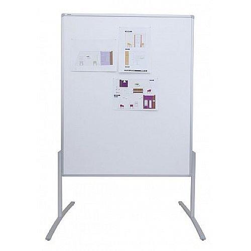 Franken PRO Training Board Grey Felt/Lacquered Whiteboard Double Sided 1200x1500mm MT801312