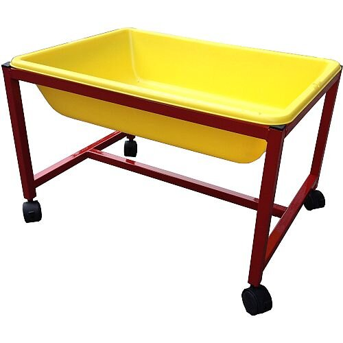 Mobile Water &Sand Tray - Selection of Colours: Yellow, Red, Green or Blue