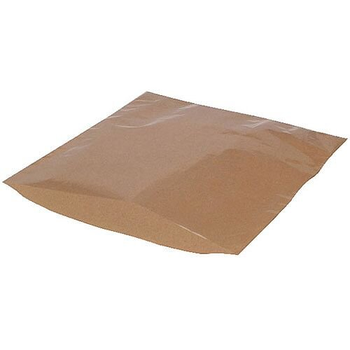 MyCafe Kraft Film Front Bags 175x175mm Brown Pack of 1000 303257