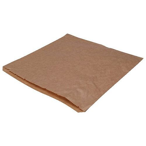 MyCafe Dependable Ribbed Kraft Bags Strung 250x250mm Brown Pack of 1000 201204S