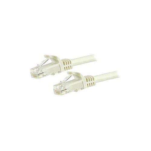 StarTech 10m Cat6 Patch Cable with Snagless RJ45 Connectors White 10 m Patch Cord 1 x RJ-45 Male Network 1 x RJ-45 Male Network Patch Cable Gold Plated N6PATC10MWH