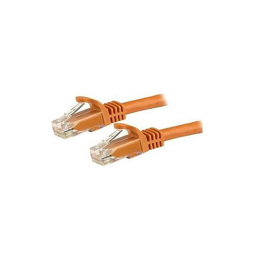 StarTech 15m Orange Gigabit Snagless RJ45 UTP Cat6 Patch Cable 15 m Patch Cord 1 x RJ-45 Male Network 1 x RJ-45 Male Network Gold-plated Contacts Orange N6PATC15MOR
