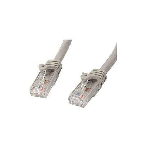 StarTech Cat 6 Network Cable for Network Device 1 m 1 x RJ-45 Male Network 1 x RJ-45 Male Network Patch Cable Gold Plated Connector Grey N6PATC1MGR