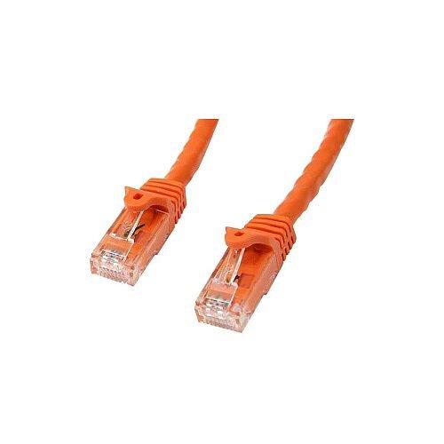 StarTech 1m Orange Gigabit Snagless RJ45 UTP Cat6 Patch Cable 1 m Patch Cord 1 x RJ-45 Male Network 1 x RJ-45 Male Network Patch Cable Gold Plated Connector N6PATC1MOR