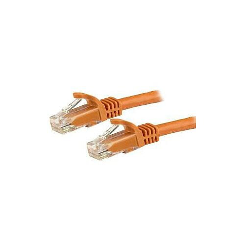 StarTech 3m Orange Gigabit Snagless RJ45 UTP Cat6 Patch Cable 3 m Patch Cord 1 x RJ-45 Male Network 1 x RJ-45 Male Network Patch Cable Gold Plated Contact Orange