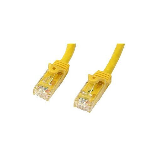 StarTech 3m Yellow Gigabit Snagless RJ45 UTP Cat6 Patch Cable 3 m Patch Cord 1 x RJ-45 Male Network 1 x RJ-45 Male Network Patch Cable Gold Plated Connector N6PATC3MYL