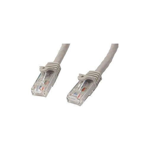 StarTech 0.5m Gray Gigabit Snagless RJ45 UTP Cat6 Patch Cable 50cm Patch Cord 1 x RJ-45 Male Network 1 x RJ-45 Male Network Patch Cable Gold Plated Connector Grey N6PATC50CMGR