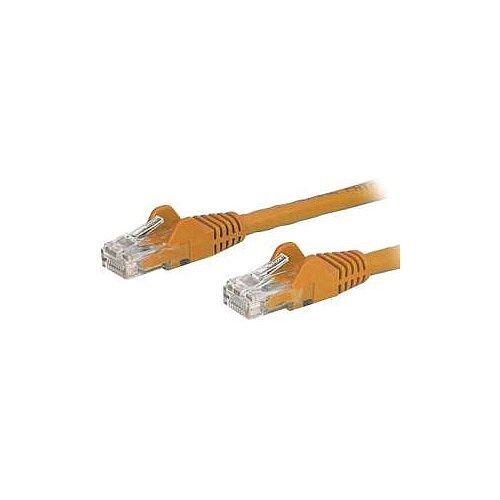 StarTech 0.5m Orange Cat6 Patch Cable with Snagless RJ45 Connectors Short Ethernet Cable 0.5 m N6PATC50CMOR