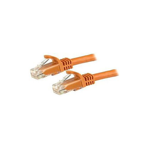 StarTech 7m Cat6 Patch Cable with Snagless RJ45 Connectors Orange 7 m N6PATC7MOR