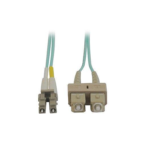 Tripp Lite Fibre Optic Network Cable 2 m 2 x SC Male Network 2 x LC Male Network Patch Cable Aqua Blue N816-02M