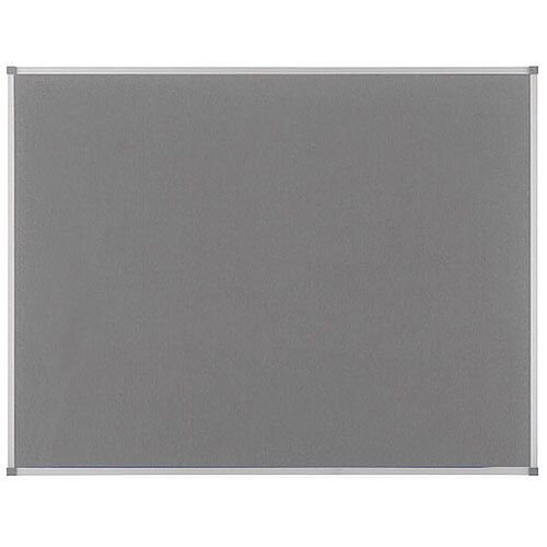 Nobo Elipse Notice Board Felt 1800x1200mm Grey