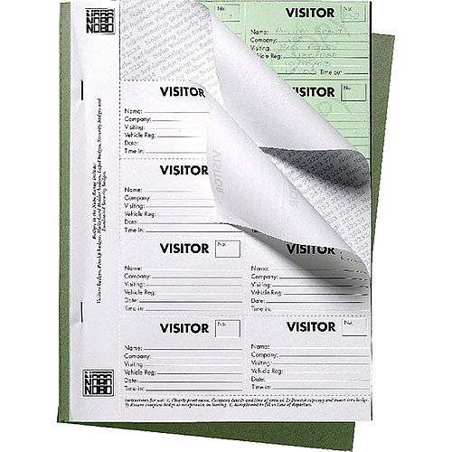 Nobo Visitors Badge Book 35334941