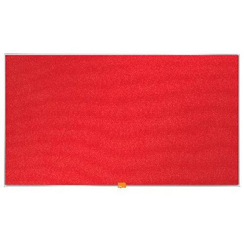 Nobo Widescreen  Felt Noticeboard 890x500mm Red 1905311
