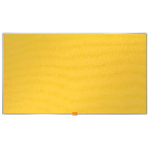 Nobo Widescreen Felt Noticeboard 890x500mm Yellow 1905319