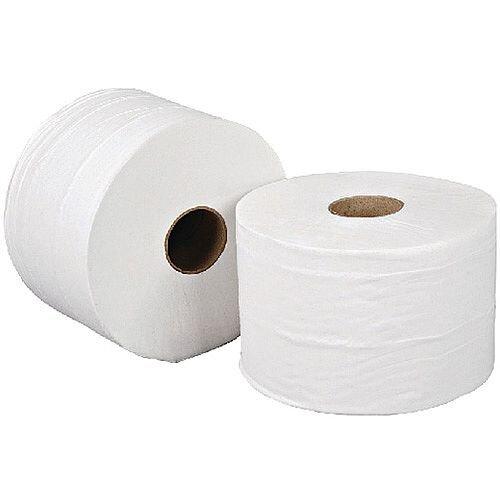 Leonardo Versatwin Toilet Paper Dispenser Refills Tissue Roll White 125m Pack 24 JT81SW