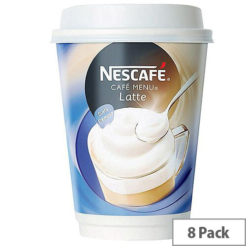 Nescafe &Go Latte Coffee Foil Sealed Cups for Drinks Machine (Pack of 8) 12278742