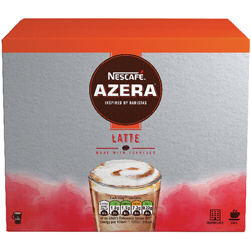 Nescafe Azera Latte Sachets Pack of 35 12366623