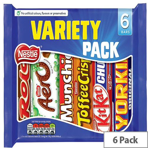 Nestle Variety Chocolate Bars 264g (Pack 6) 12297992