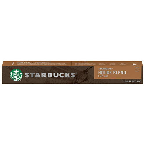 Nespresso Starbucks House Blend Lungo Coffee Pods Pack of 10 12423278