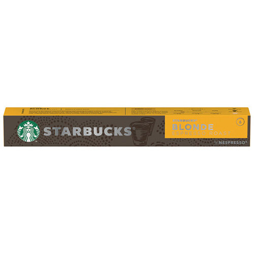 Nespresso Starbucks Blonde Roast Espresso Coffee Pods Pack of 10 12423392