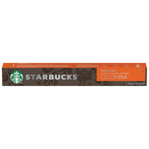 Nespresso Starbucks Colombia Espresso Coffee Pods Pack of 10 12423359