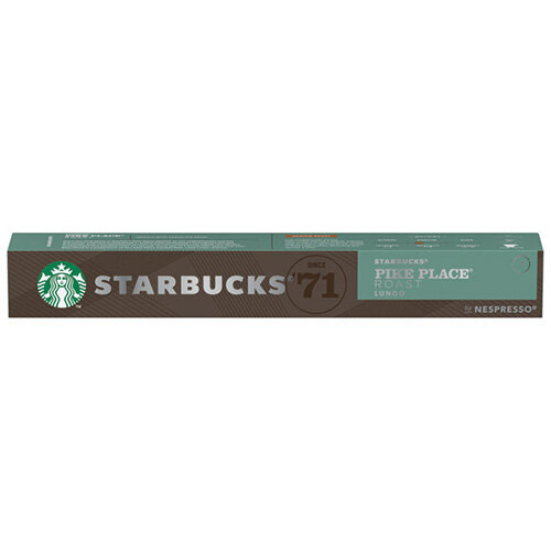 Nespresso Starbucks Pike Place Lungo Coffee Pods Pack of 10 12423398